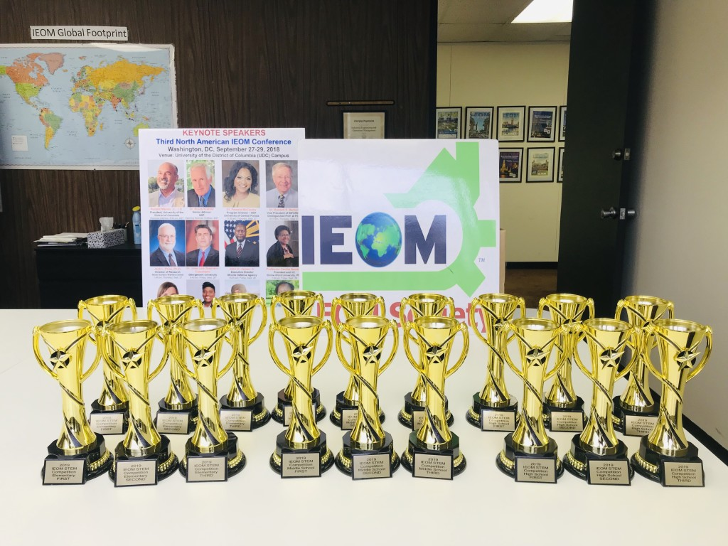Trophies IEOM HS MS STEM Competition 2