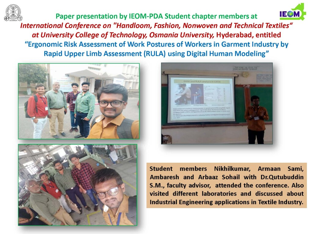 Activities of IEOM PDA Student Chapter